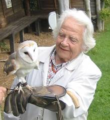 mary with an owl